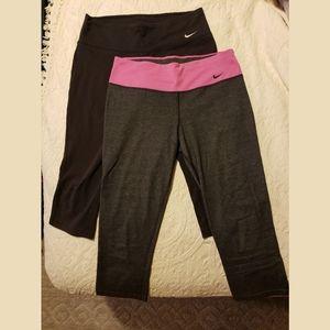 2 Women's Nike Dri Fit Capri Pants